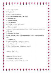 English Worksheets: A mouse Joke