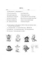 English Worksheet: Medicine Vocabulary