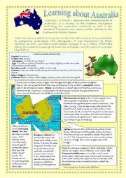 English Worksheet: Learning about Australia