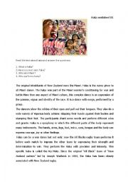 English Worksheets: haka