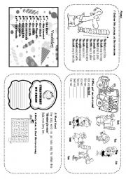 English Worksheet: ordinal numbers with ice-cream