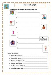 English Worksheets: Worksheet for kids
