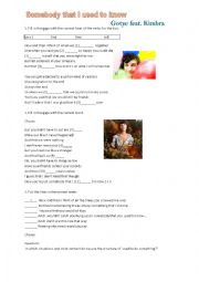 English worksheet: Gotye feat. Kimbra