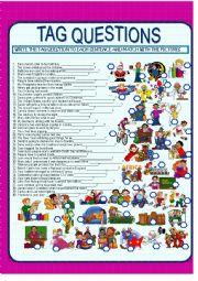 English Worksheet: TAG QUESTION