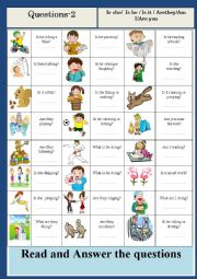 English Worksheets: Questions -2