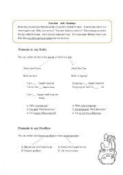 English Worksheets: Functional English Greetings