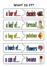 English Worksheet: quantifiers puzzle pieces1