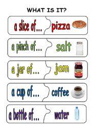 English Worksheet: quantifiers puzzle pieces2