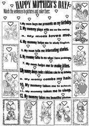 English Worksheet: HAPPY MOTHER´S DAY!