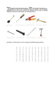 English Worksheets: Hardware Store