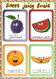English Worksheet: Fruit flashcards (1)
