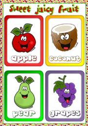 English Worksheet: Fruit flashcards (2)