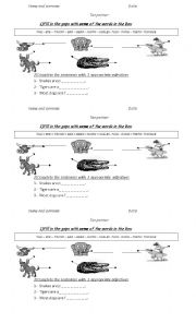 English Worksheets: ANIMAL PARTS OF THE BODY
