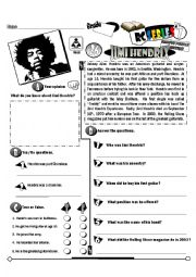 English Worksheet: RC Series Famous People Edition_26 Jimi Hendrix  (Fully Editable+Key)