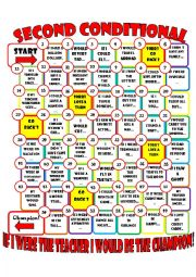 English Worksheet: type 2 conditional board game