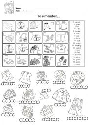 English Worksheets: Clothes And Plural