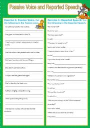 English Worksheet: Passive voice and reported speech