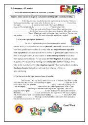 English Worksheet: Mid term test N3 9th form