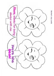 English Worksheet: Mother´s day cards 1