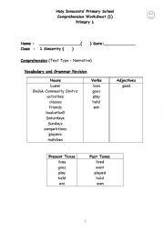 English Worksheets: Habits of Mind - Persisting - comprehension