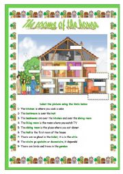 English Worksheets: The rooms of the house