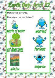 English Worksheet: Happy Earth Day