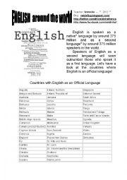 English Worksheets: English around the world