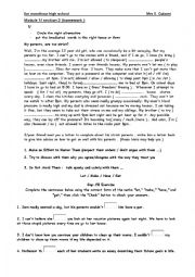 English worksheet: mixed language tasks forb 3rd level