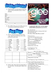 English Worksheet: Past Simple class: A Picture activity, a bingo and a song... all together!