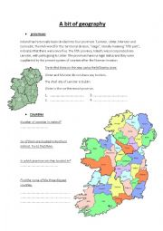 English Worksheet: Irish geography