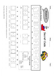 Cracking the Code Worksheet http://www.eslprintables.com/speaking_worksheets/conversation/Secret_Code_636496/