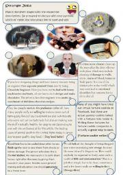 English Worksheet: Strange Jobs
