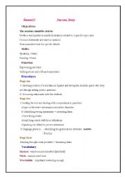 English Worksheet: lesson 22 success story lesson plan