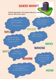 English Worksheets: GUESS WHAT!