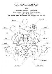 Colour the clown Joki-Doki