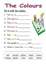 colours worksheet esl worksheet by charleneesl. Black Bedroom Furniture Sets. Home Design Ideas
