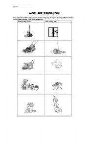 English worksheet: HOUSE CHORES