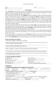 English Worksheet: Exam for low Intermediate New Headway Pre intermediate/Intermediate