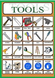 English Worksheets: WORKING TOOLS