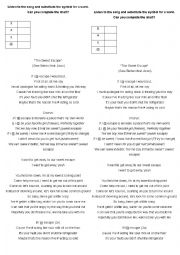 english worksheets suddenly i see by kt tunstall. Black Bedroom Furniture Sets. Home Design Ideas