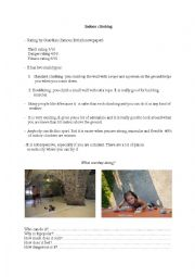 English Worksheets: Indoor climbing - reading comprehension