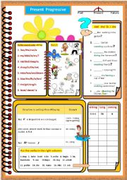 English Worksheets: A Series of grammar worksheets - Present  Progressive