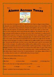 English Worksheets: Alamo Across Texas -