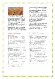English Worksheets: Because you loved me-Celine Dion
