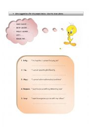 English Worksheets: SUGGESTION