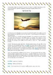 English Worksheets: Compostion: My First Air Trip
