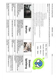 English Worksheets: Pairwork about movie makers