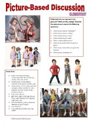 English Worksheet: Picture-based discussion Elementary - (14) Clothes