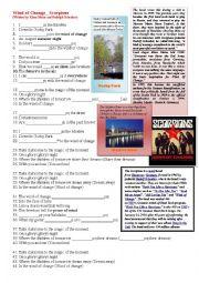 English Worksheet: Wind of Change - Scorpions