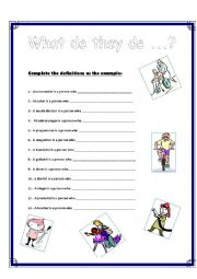 English Worksheets: what do they do